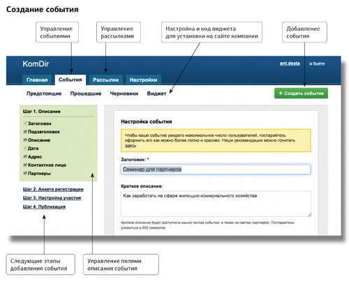 Организация и проведение массовых мероприятий: универсальный онлайн инструмент